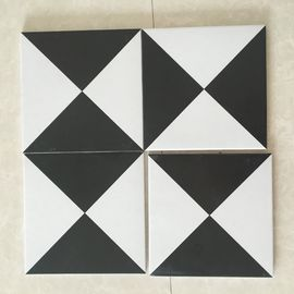 AAA Grade Ceramic Kitchen Floor Tiles For Decoration Mix Black White Color